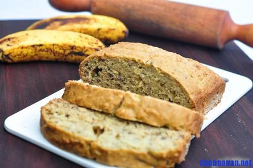cach lam mon banh mi chuoi - Cách làm bánh mì chuối thơm nức chiều đông