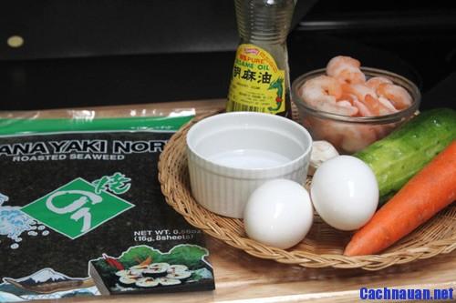 cach lam kimbap 7 - Hướng dẫn cách làm Kimbap theo kiểu Hàn Quốc