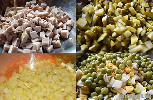 cach lam salad nga thom ngon - Mách bạn cách làm salad Nga ngon như ngoài hàng