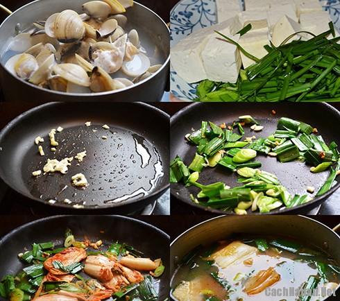 cach nau canh ngao kim chi - Cách nấu canh ngao kim chi ngon miệng ngày lạnh
