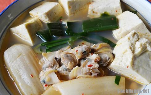 canh ngao kim chi ngon 2 - Cách nấu canh ngao kim chi ngon miệng ngày lạnh