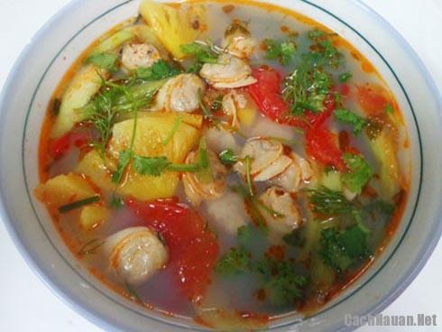 canh ngao nau dua ngon - Cách nấu canh ngao chua thơm ngon đặc biệt