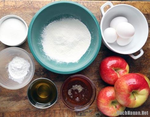 nguyen lieu lam banh tao - Cách làm món bánh táo thơm ngon lạ miệng