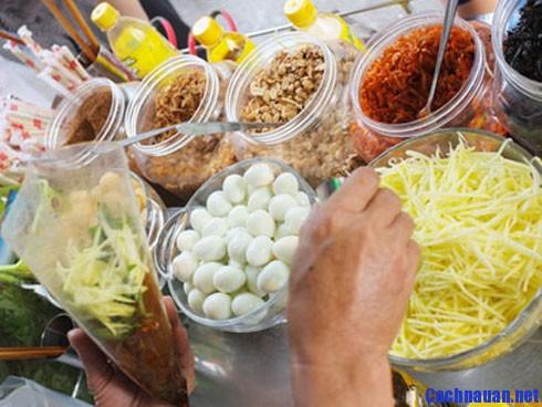 nguyen lieu lam banh trang tron - Hướng dẫn cách làm bánh tráng trộn Sài Gòn ngon đúng điệu