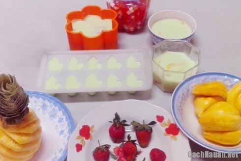 nguyen lieu lam thach rau cau trai cay - Cách làm thạch rau câu trái cây mát lạnh