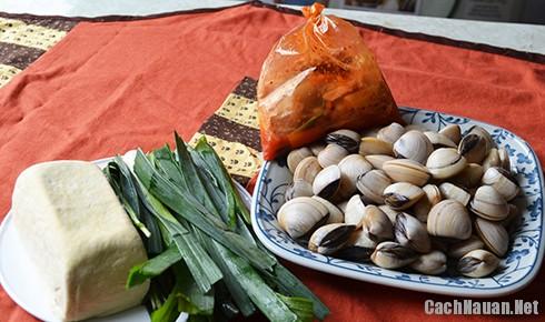 nguyen lieu nau canh ngao kim chi - Cách nấu canh ngao kim chi ngon miệng ngày lạnh