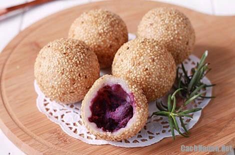 banh ran nhan khoai mon 7 - Cách làm bánh rán nhân khoai môn ngon ngọt