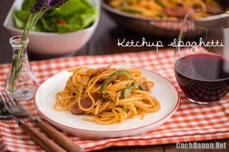 cach lam my spaghetti 10 - Cách nấu mỳ spaghetti ketchup thơm ngon dễ ăn