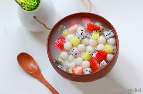 cach lam che tran chau - Cách làm chè trân châu hoa quả độc đáo