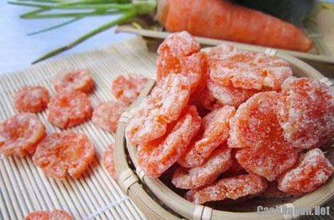 cach lam mut ca rot 6 - Cách làm mứt cà rốt thơm ngọt, dẻo ngon