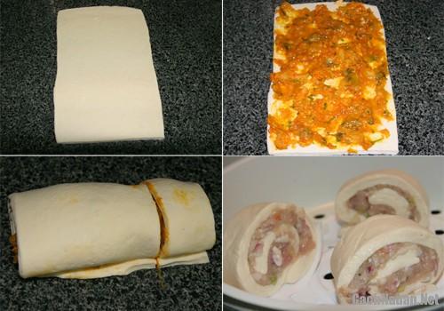 banh bao cuon tom 1 - Cách làm bánh bao cuộn tôm lạ miệng