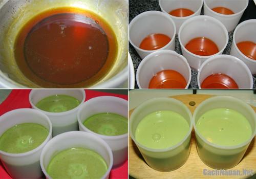 banh flan vi tra xanh 1 - Cách làm bánh flan vị trà xanh thơm ngon