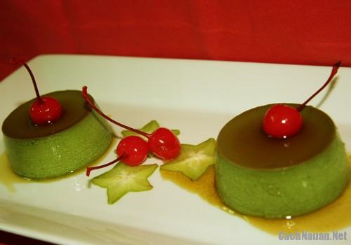 banh flan vi tra xanh 2 - Cách làm bánh flan vị trà xanh thơm ngon