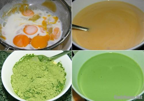 banh flan vi tra xanh - Cách làm bánh flan vị trà xanh thơm ngon