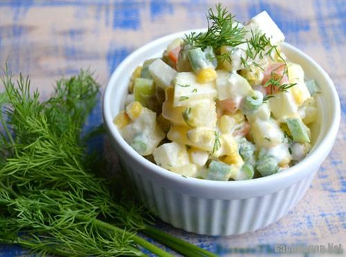 cach lam salad nga ngon 4 - Cách làm salad Nga thơm ngon mà không ngán