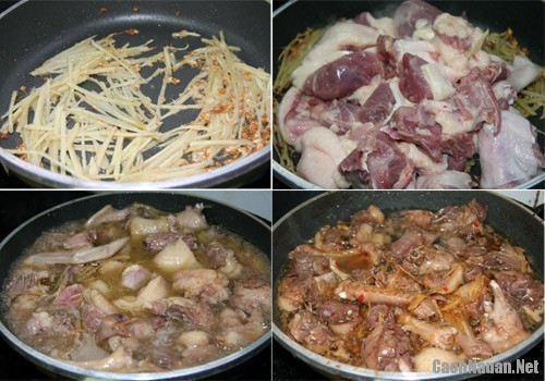 cach lam thit vit kho gung 2 - Cách làm thịt vịt kho gừng ngon cơm