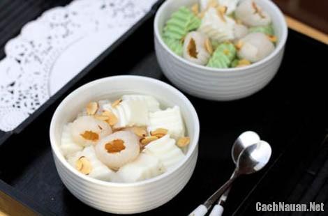 cach nau che thach 2 - Cách nấu chè vải thạch dừa thơm mát