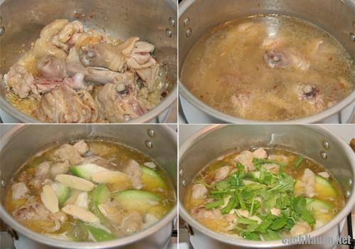 canh bi nau thit ga 1 - Cách nấu canh bí thịt gà ngon ngọt