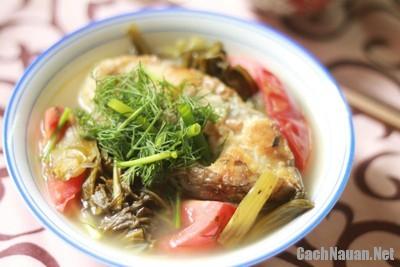 canh ca nau dua chua 9 - Cách nấu canh cá dưa chua ngon dịu