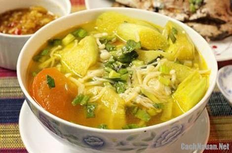 canh nam nau chua - Cách nấu canh nấm chua thanh mát