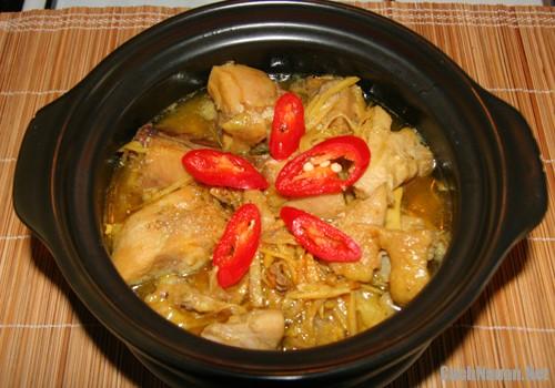 ga kho gung nghe 2 - Cách làm món thịt gà kho gừng, nghệ ngon cơm