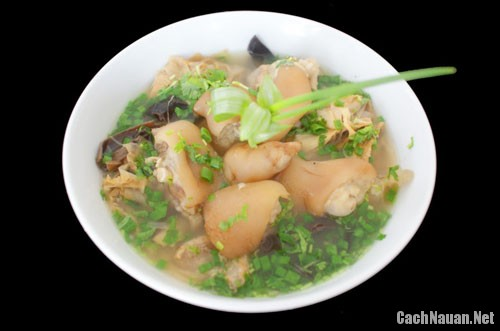 gio heo nau mang kho - Cách nấu giò heo măng khô thơm ngon