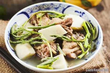 mon vit om sau 7 - Cách làm món vịt om sấu thơm ngon, chua dịu
