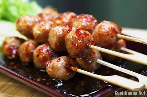cach lam thit xien - Cách làm món thịt xiên kiểu Thái Lan