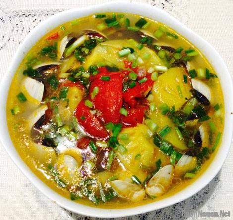 canh ngao nau chua - Cách làm canh ngao nấu chua thanh mát