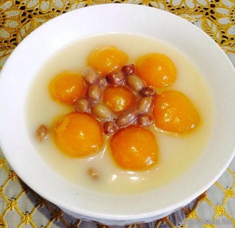 che bi do dau phong - Cách nấu món chè bí đỏ đậu phộng