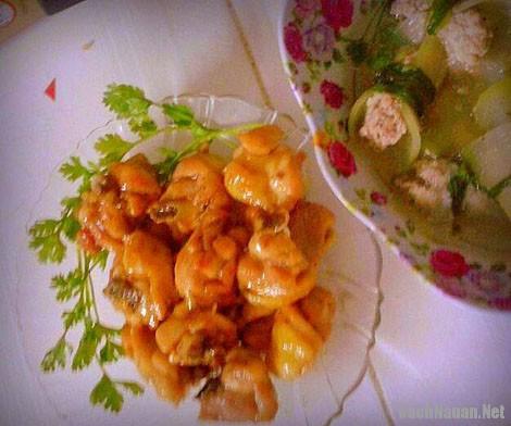 ga sot caramen - Cách làm món gà sốt caramen thơm ngon