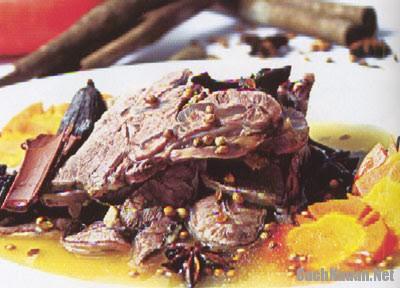 bo luoc ngu vi - Cách làm bắp bò luộc ngũ vị thơm ngon