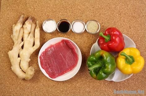 thit bo xao ot chuong - Thịt bò xào ớt chuông đơn giản mà ngon cơm