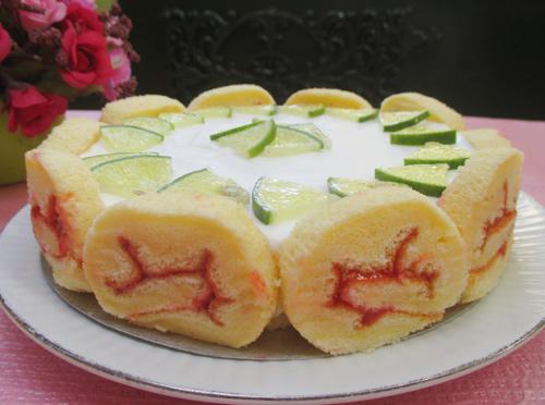 banh charlotte chanh sua chua 11 - Cách làm bánh charlotte chanh sữa chua tươi mát