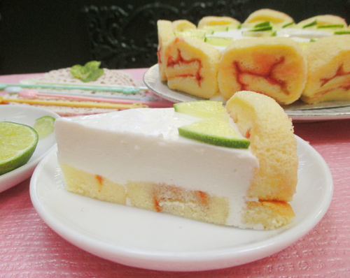 banh charlotte chanh sua chua 12 - Cách làm bánh charlotte chanh sữa chua tươi mát
