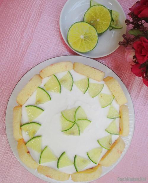banh charlotte chanh sua chua 131 - Cách làm bánh charlotte chanh sữa chua tươi mát