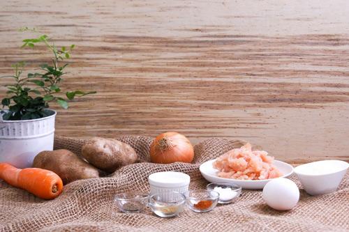 banh khoai tay chien ga - Cách làm bánh khoai tây chiên gà cực ngon
