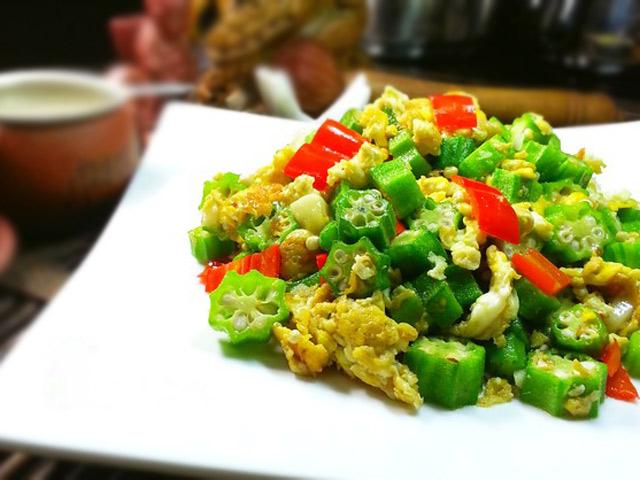 dau bap xao trung 6 - Cách làm món đậu bắp xào trứng đơn giản, ngon cơm