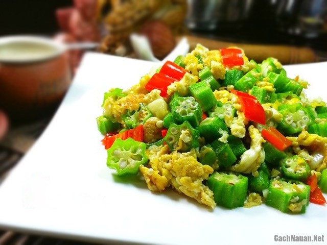 dau bap xao trung 61 - Cách làm món đậu bắp xào trứng đơn giản, ngon cơm