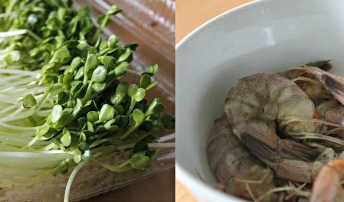 goi tom rau mam - Cách làm món gỏi tôm rau mầm thơm ngon