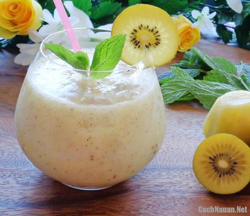 sinh to kiwi 31 - Cách làm sinh tố kiwi đẹp da và bổ dưỡng