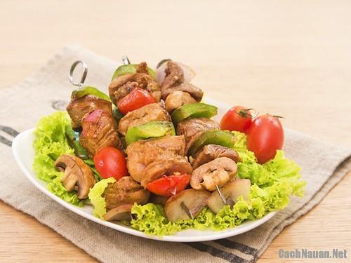 thit xien rau cu ap chao 101 - Cách làm món thịt xiên rau củ áp chảo ngon hoàn hảo