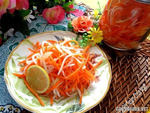cach ngam cu cai ca rot chua ngot - Cách ngâm củ cải, cà rốt chua ngọt thật giòn
