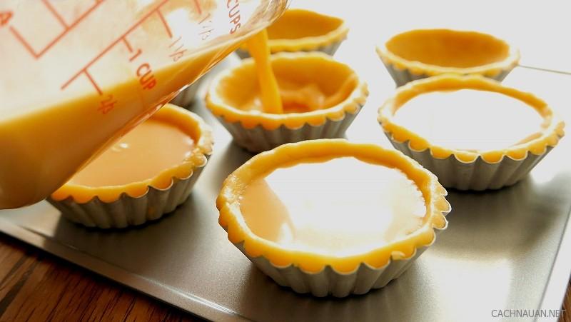 Cách làm bánh tart trứng với kiểu trang trí siêu cute