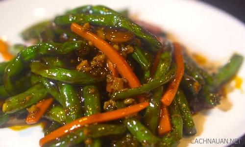 Cách làm món đậu cô ve sốt tôm khô cho bữa tối ngon cơm