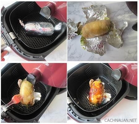 Cách làm món gà cuộn bơ nướng tuyệt ngon