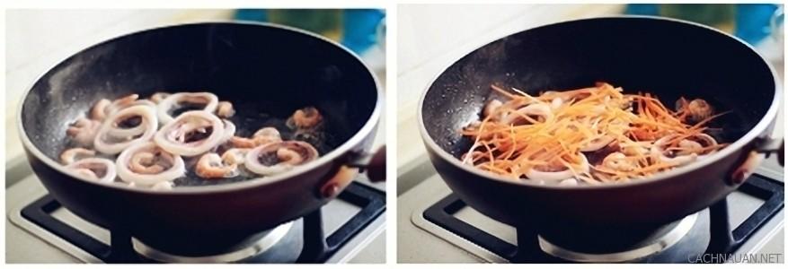 Cách làm món miến xào hải sản ngon hết ý