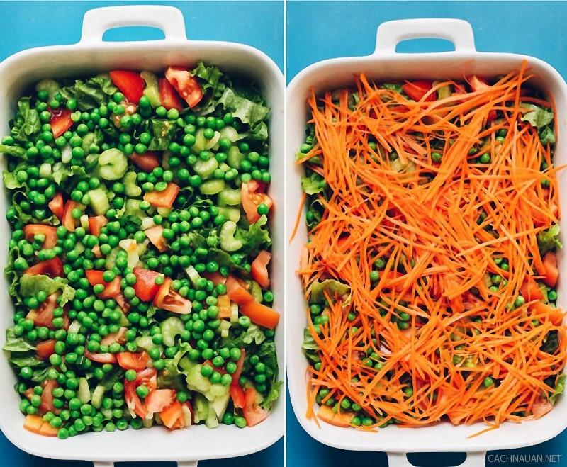 cach lam mon salad 7 lop ngon mat ngon mieng 1 - Cách làm món salad 7 lớp ngon mắt ngon miệng
