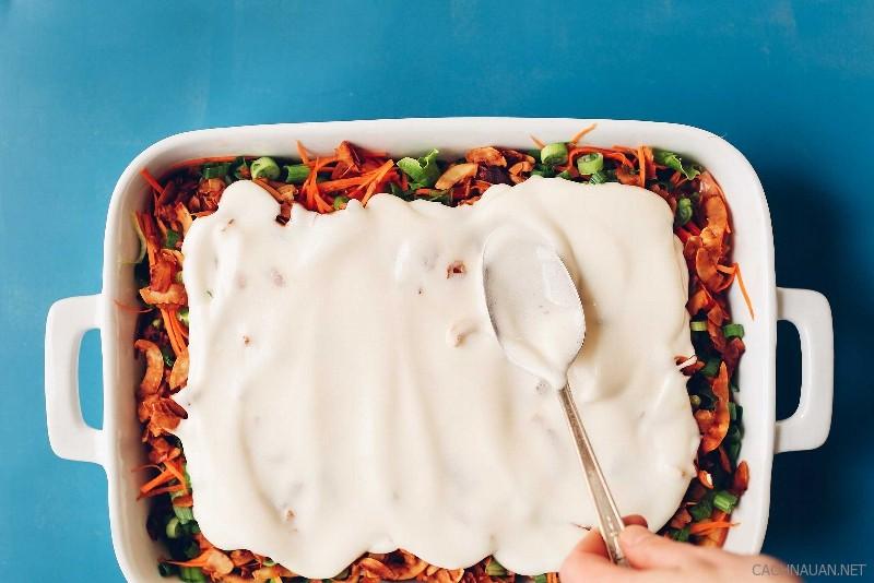 cach lam mon salad 7 lop ngon mat ngon mieng 3 - Cách làm món salad 7 lớp ngon mắt ngon miệng