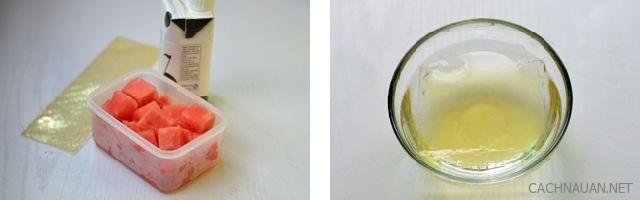 Cách làm thạch sữa dưa hấu rất đẹp mà còn ngon nữa